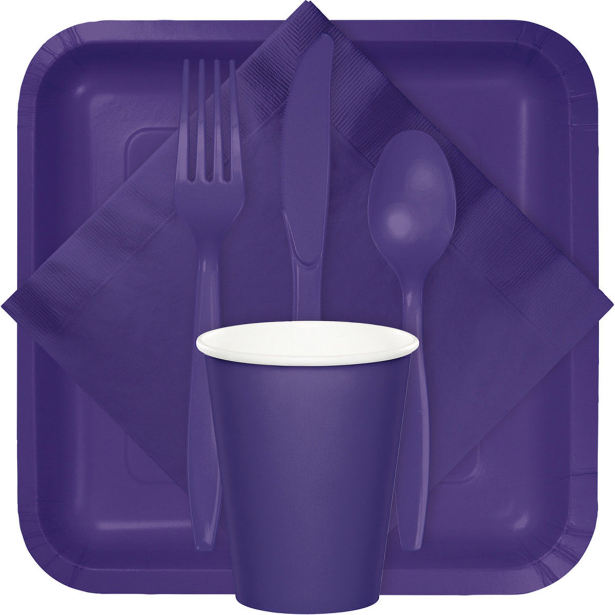 dark purple plates